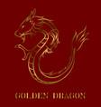 gold dragon image eps 10