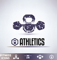 gym icons fitness grunge emblems collection vector image vector image