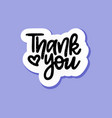 hand-drawn thank you paper speech bubble vector image vector image