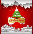 happy new year and merry christmas 2019 on red bac vector image