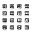 hi-tech equipment icons vector image vector image