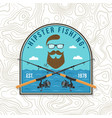 hipster fishing club patch concept for vector image