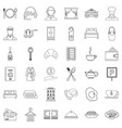hotel service icons set outline style vector image vector image