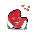 in love candy moon mascot cartoon vector image vector image