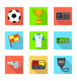 isolated object of soccer and gear symbol set of vector image