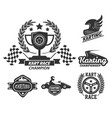kart race extreme driving sport isolated vector image vector image