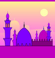 landscape with mosques and sunset vector image vector image