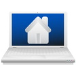 Laptop and house Real estate concept vector image