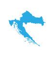 map of croatia high detailed map - croatia vector image vector image