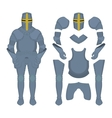 Medieval knight armor parts vector image vector image