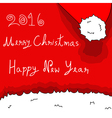 Merry Christmas and Happy New Year 2016 - Santa vector image