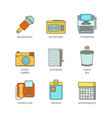 minimal lineart flat journalism iconset vector image vector image