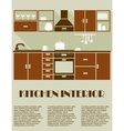 Modern brown kitchen interior design vector image vector image