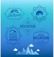mountain logos and emblems vector image vector image