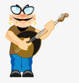 musician plays on dombra vector image