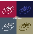 New Year hand-drawn lettering vector image vector image