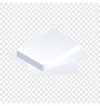 paper stack icon isometric style vector image vector image