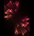 pink orange overlap stripe rush in dark background vector image vector image