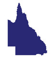 queensland state silhouette vector image