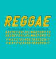 Reggae condensed display font popart design