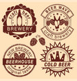 rero beer shop logo emblems and badges set vector image vector image