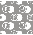 Rouble coin seamless pattern vector image vector image