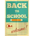 school poster vector image vector image