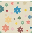 Seamless background of textile with hearts vector image vector image