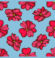 seamless pattern with hand drawn colored impatiens vector image