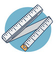 sewing tape cartoon sewing supplies centimeter vector image