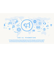 social promotion thin line design vector image vector image