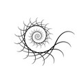 spiral design elements abstract lines black and vector image vector image