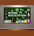 stem education on blackboard vector image vector image