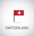 switzerland pin vector image vector image