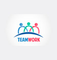 teamwork group people community logo vector image vector image