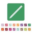 The pencil icon Pencil symbol Flat vector image