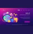 time management concept landing page vector image vector image