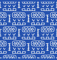 tribal boho native american seamless pattern vector image vector image