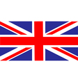 united kingdom of great britain flag vector image vector image