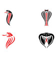 viper snake logo design element danger snake icon vector image