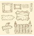 wooden signposts vector image