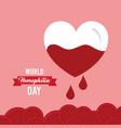 world hemophilia day invitation card healthcare vector image