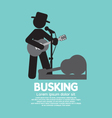 Busking Street Performance Symbol vector image