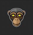 chimpanzee logo design template chimpanzee head vector image