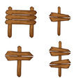 Wooden signboards standing banners isolated vector image
