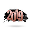 2019 happy new year background for flyers vector image vector image