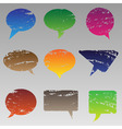abstract grunge speech bubbles vector image vector image