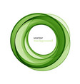 abstract transparent green swirl circle vector image vector image