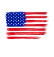 American Flag Independence Day 4 th July vector image