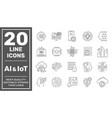 artificial intelligence and internet things ai vector image vector image